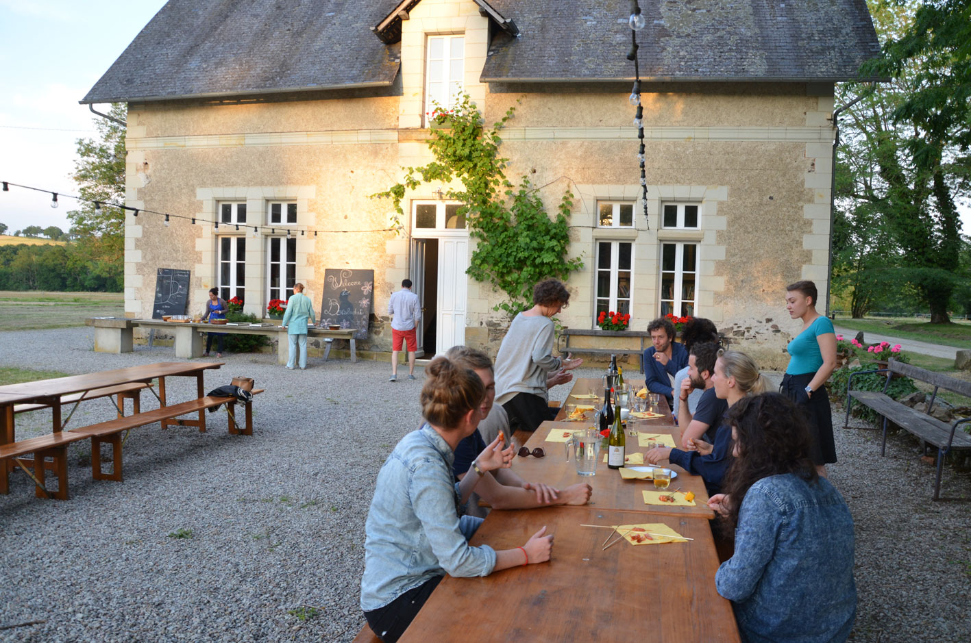 Lunch at the farm house / Domaine de Boisbuchet